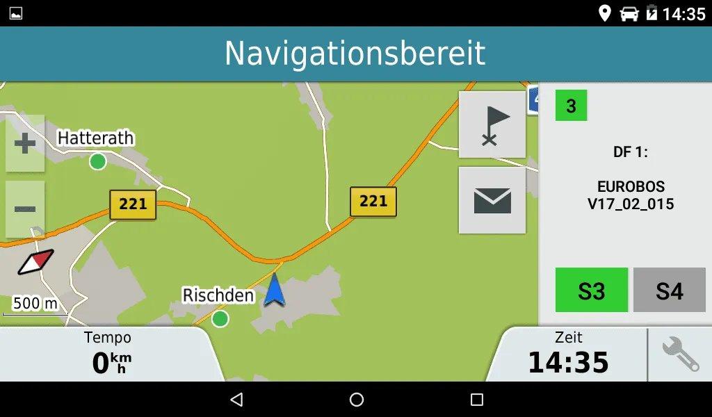 EuroBOS Navigator Navigationsfenster